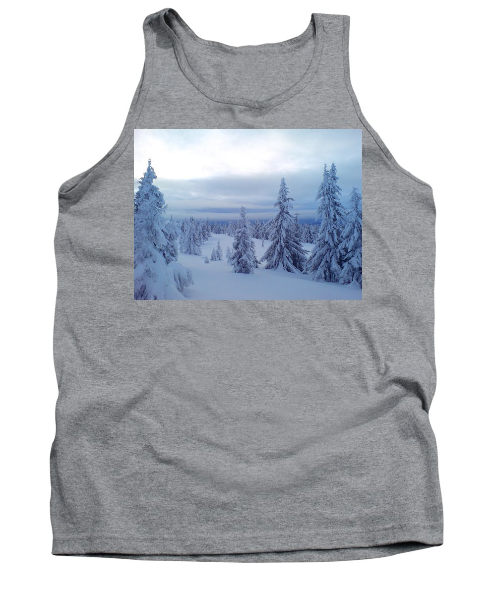 Trees Tank Top featuring the photograph The Blue Hour by Are Lund