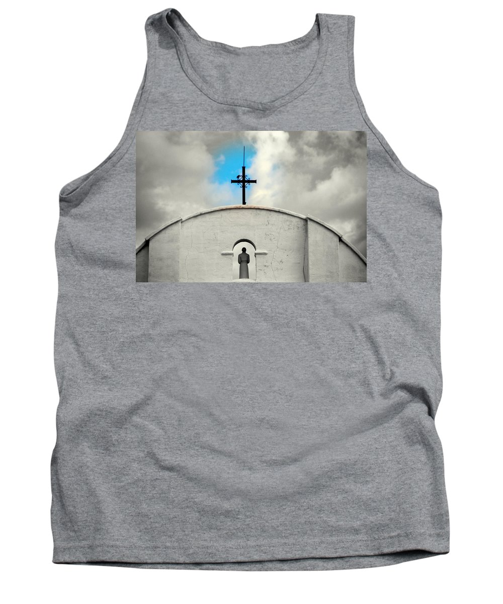 Religion Tank Top featuring the photograph The Blue Spot In The Sky by Susanne Van Hulst
