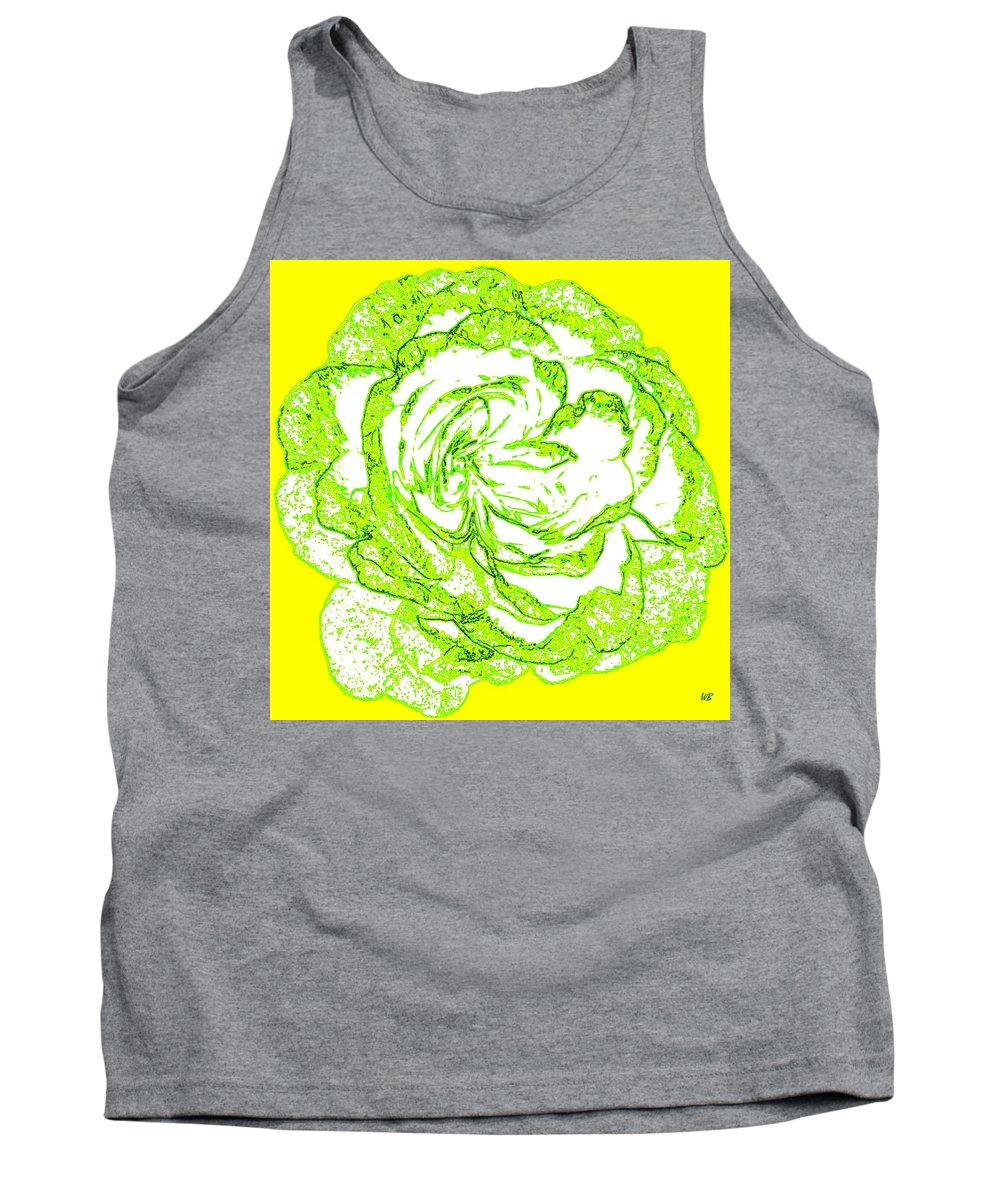 Abstract Tank Top featuring the digital art The Cabbage Rose by Will Borden