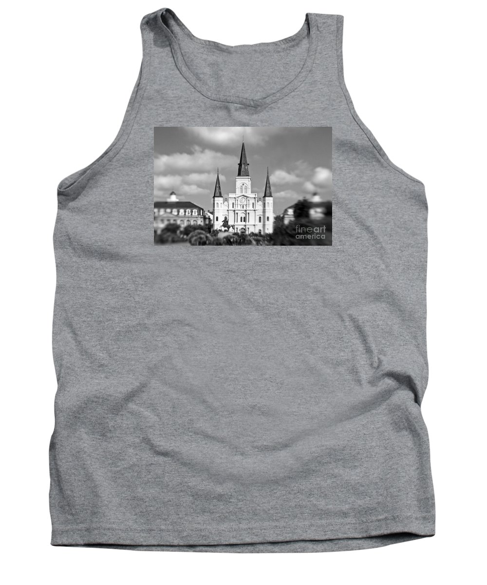 St. Louis Cathedral Tank Top featuring the photograph The Cathedral - Bw by Scott Pellegrin