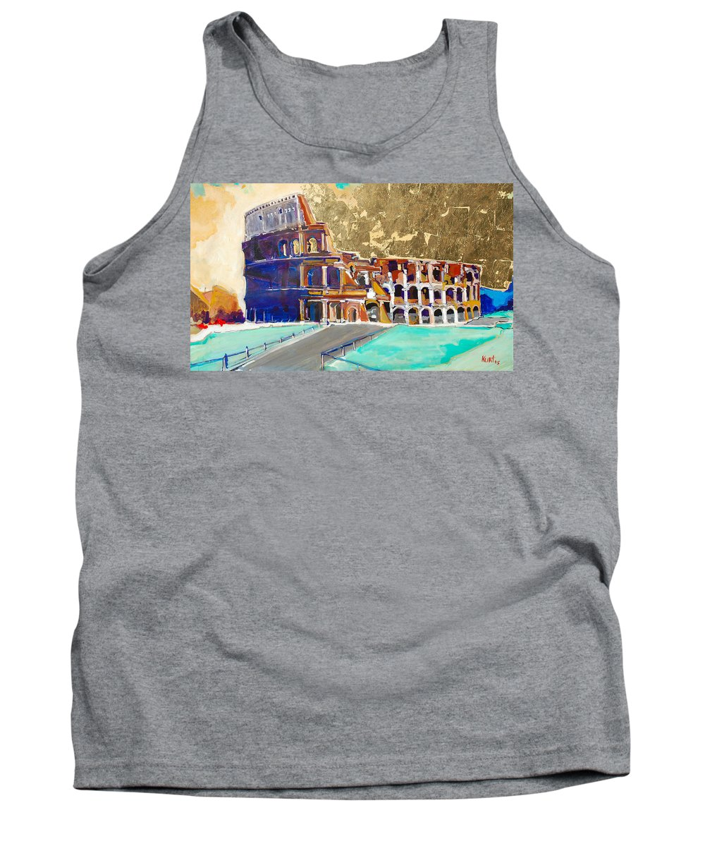 Colosseum Tank Top featuring the painting The Colosseum by Kurt Hausmann