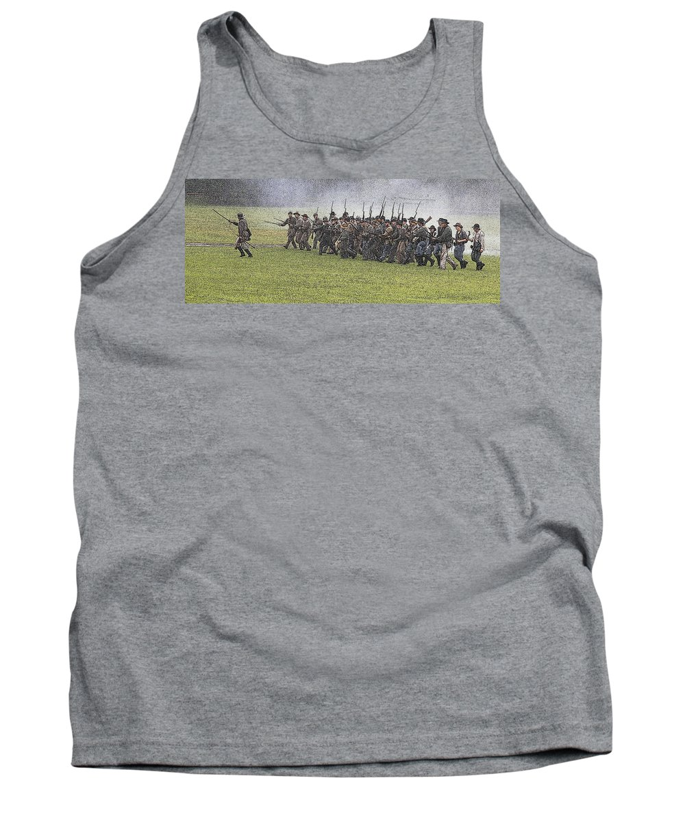 Civil War Tank Top featuring the photograph The Conflict by Robert Pearson