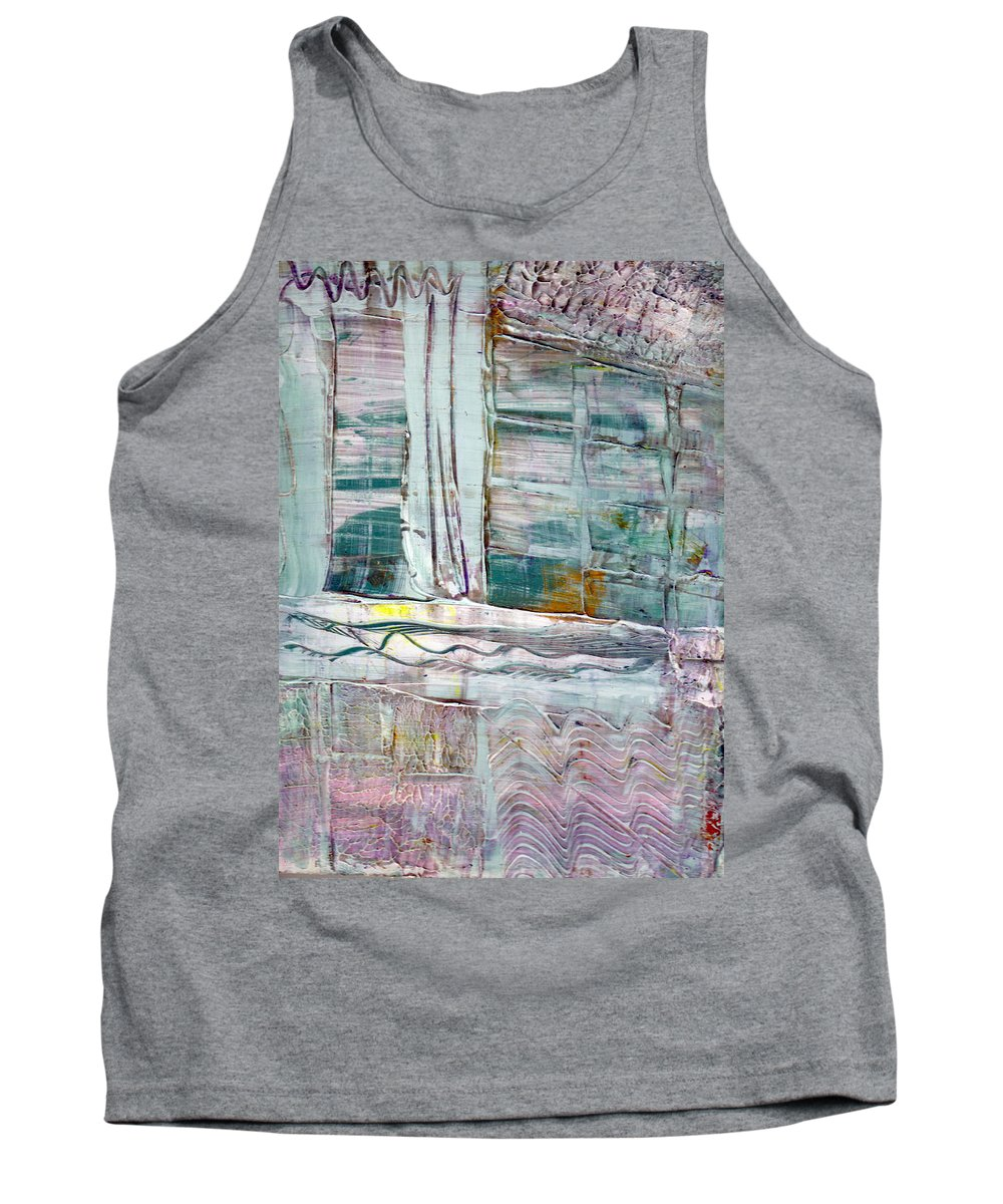 Abstract Tank Top featuring the painting The Corner Window by Wayne Potrafka
