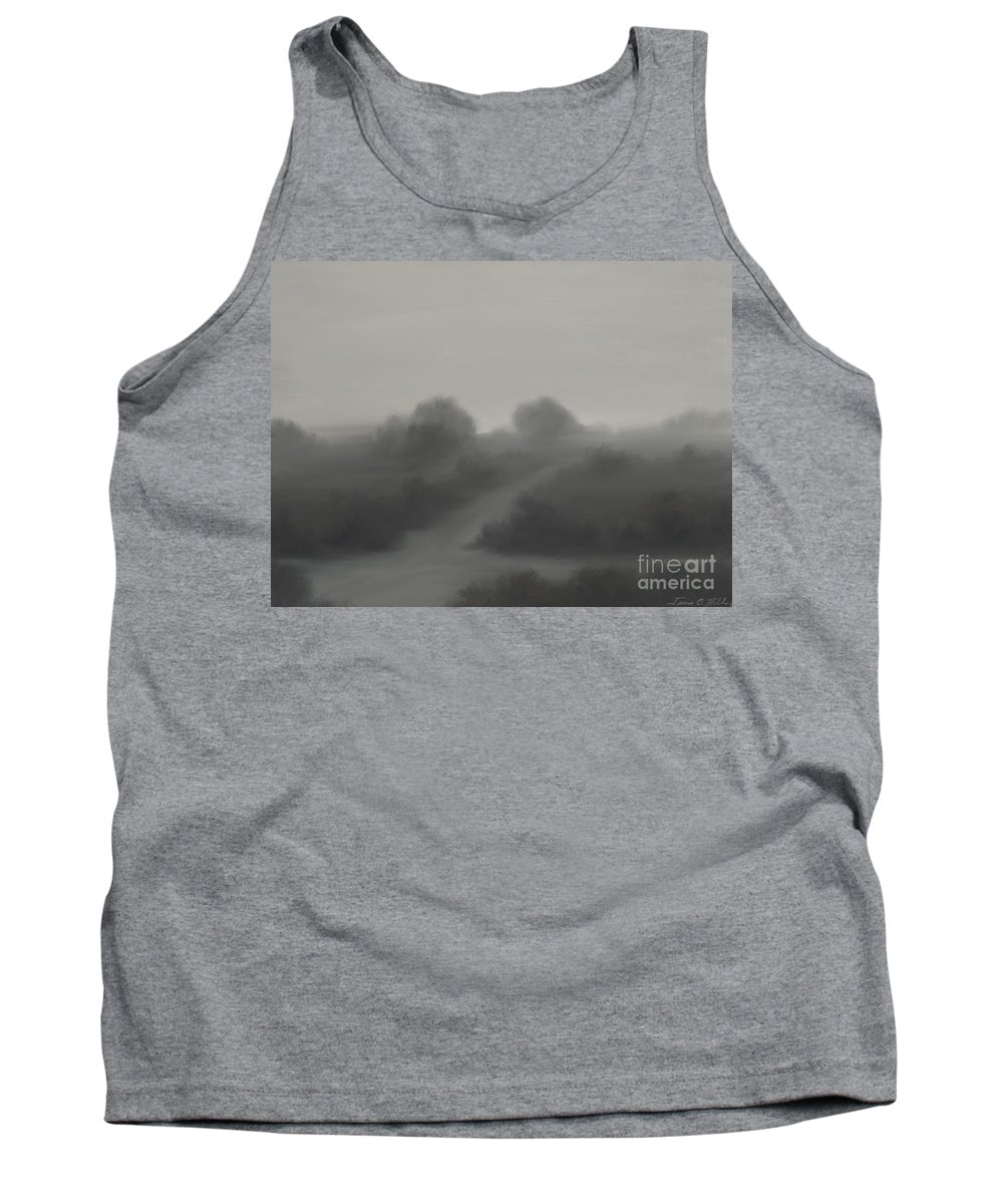 Landscape Tank Top featuring the painting The Crossroads by James Christopher Hill