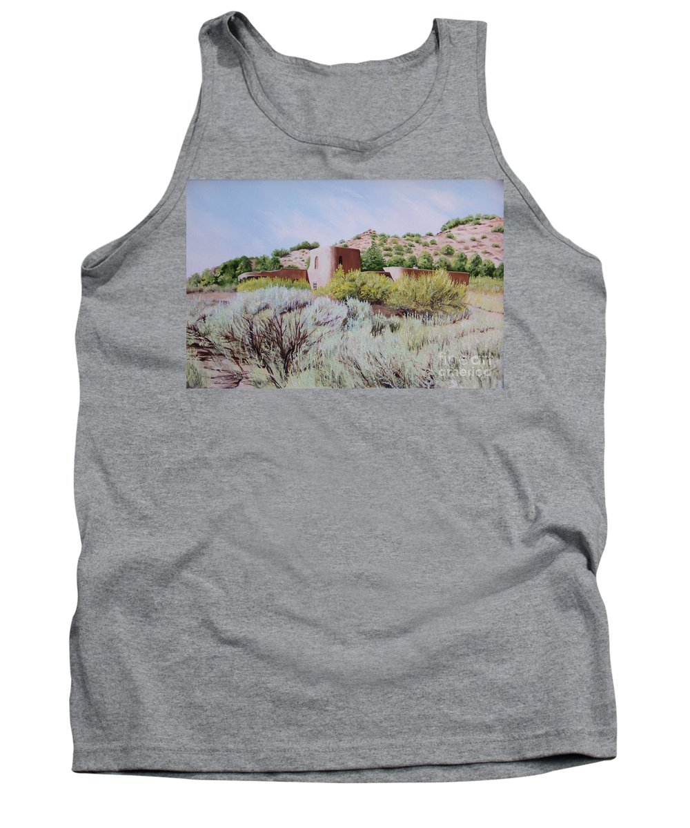 Usa Tank Top featuring the painting The Dixon House by Mary Rogers