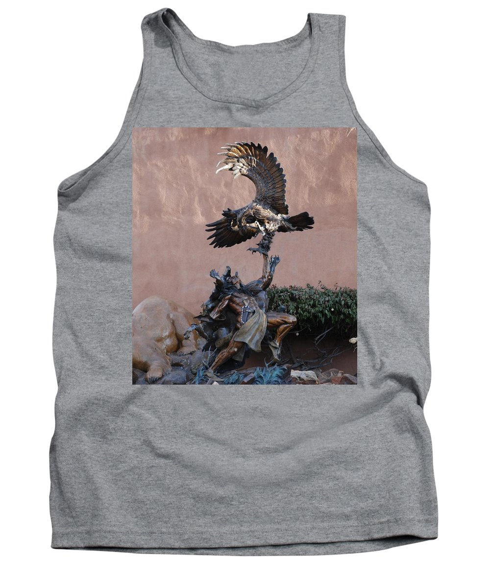 Eagle Tank Top featuring the photograph The Eagle And The Indian by Rob Hans