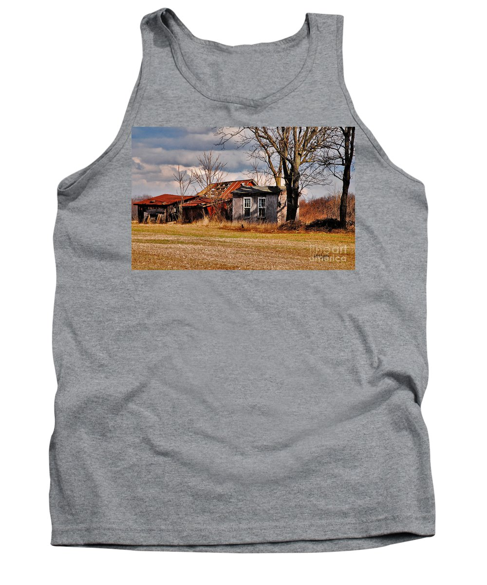 Landscape Tank Top featuring the photograph The End Of Days by Lois Bryan