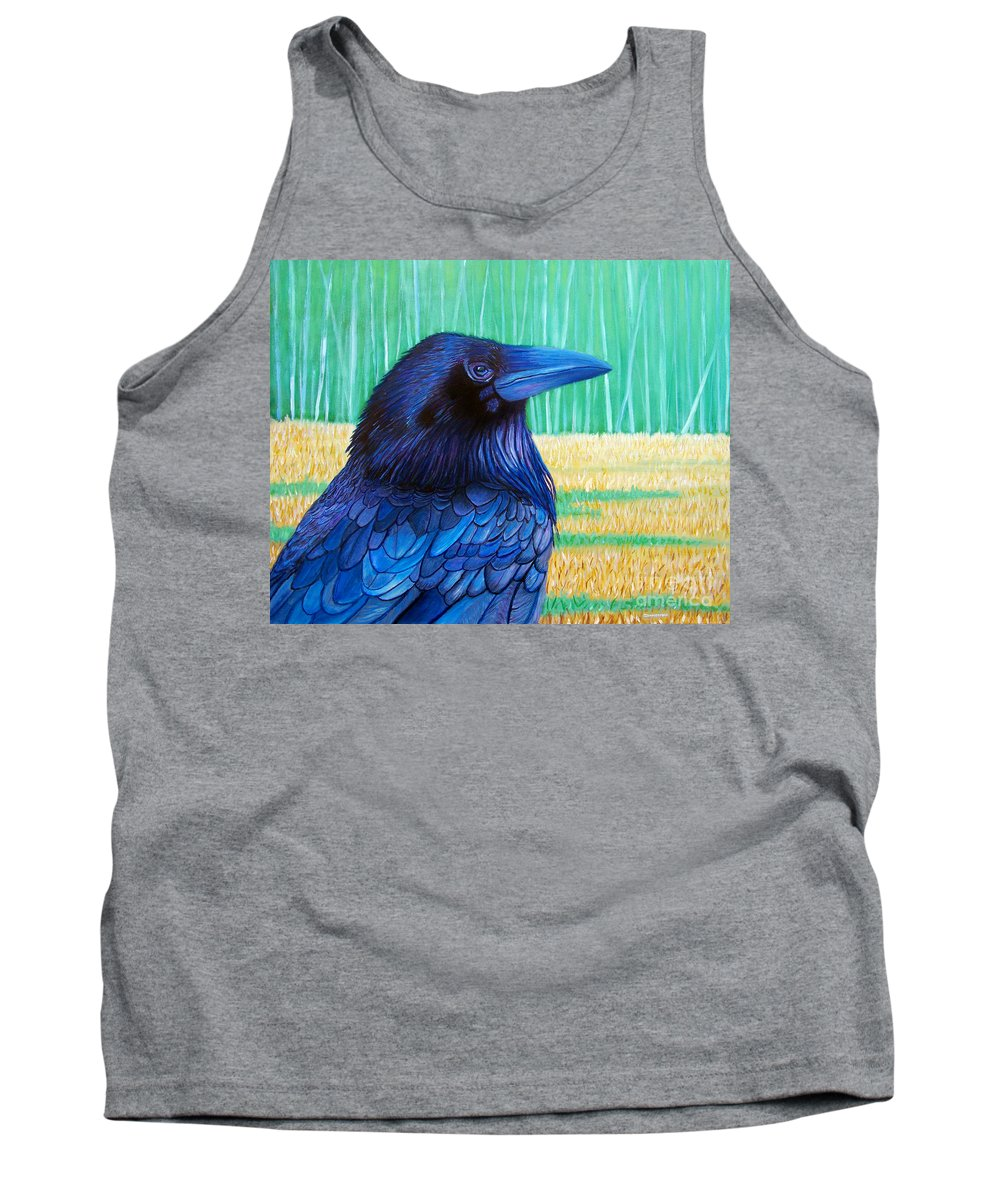 Raven Tank Top featuring the painting The Field Of Dreams by Brian Commerford