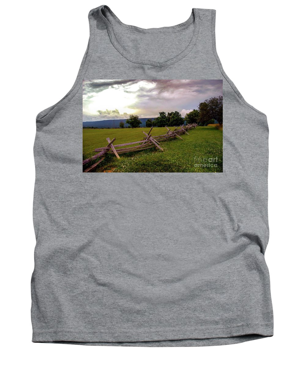 Landscape Tank Top featuring the photograph The Field Of Lost Shoes by Broken Soldier