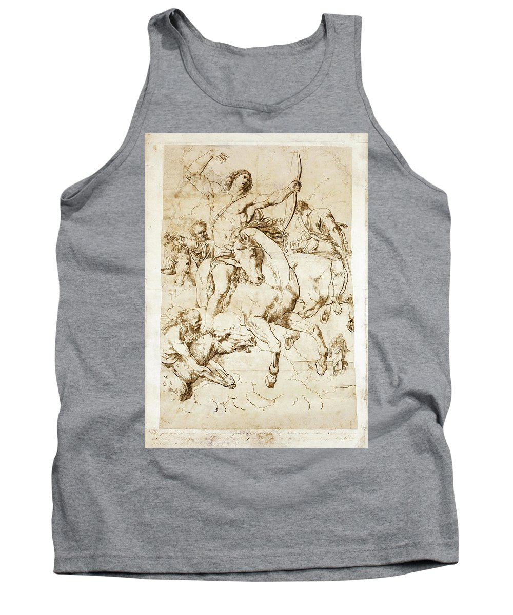 Luigi Sabatelli Tank Top featuring the drawing The Four Horsemen Of The Apocalypse by Luigi Sabatelli