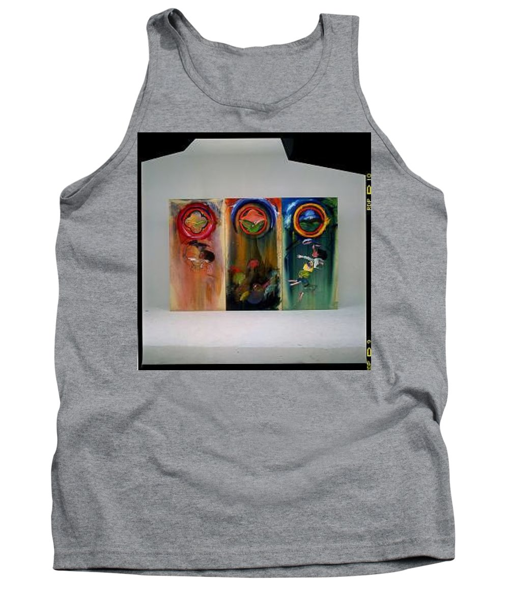 Fall From Grace Tank Top featuring the painting The Fruit Machine Stops by Charles Stuart