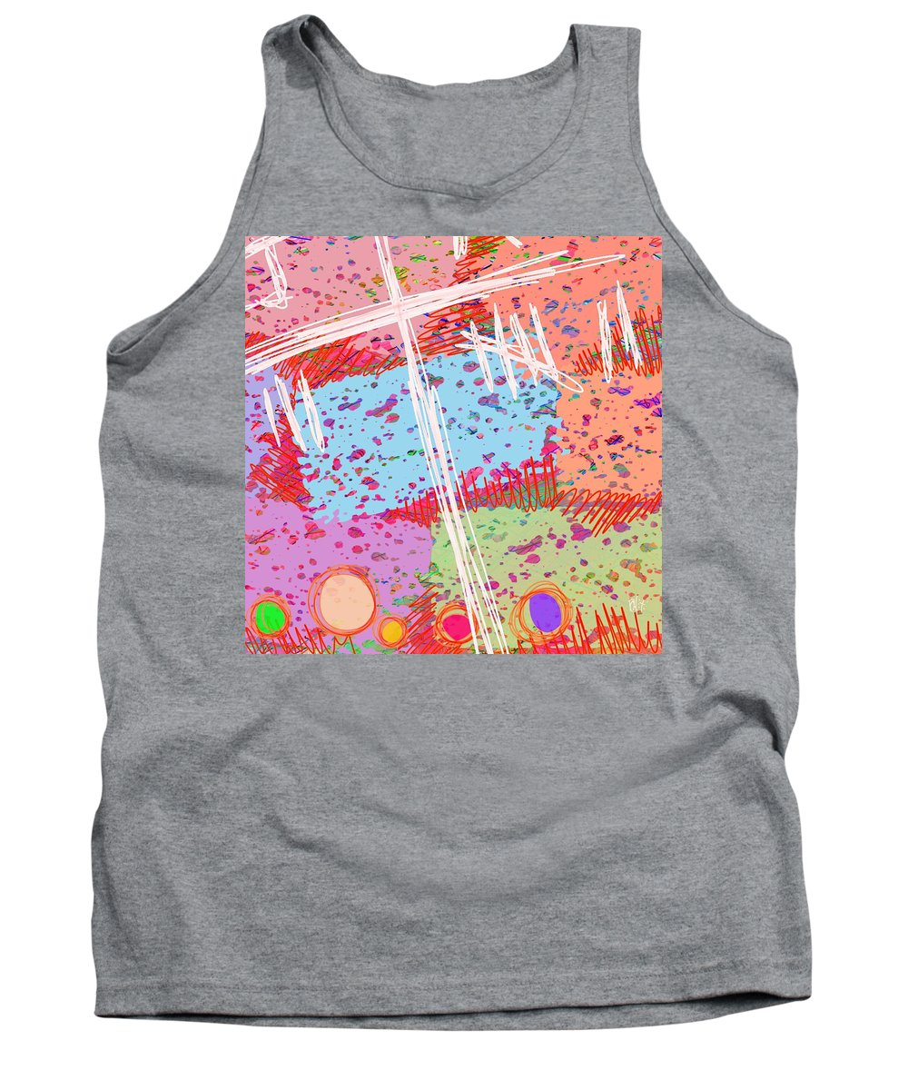 Abstract Tank Top featuring the digital art The Games We Used To Play by Rachel Christine Nowicki