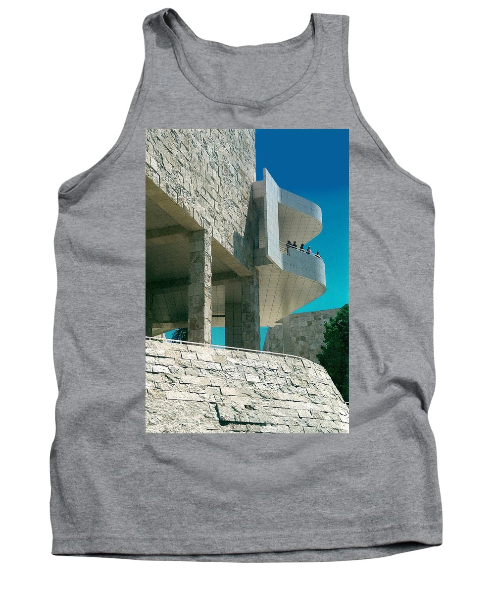 Architecture Tank Top featuring the photograph The Getty Panel Three From Triptych by Steve Karol