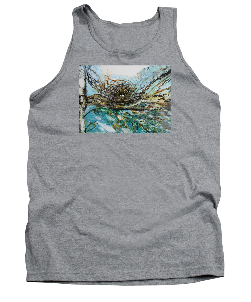 Landscape Tank Top featuring the painting The Golden Nest by Christiane Kingsley