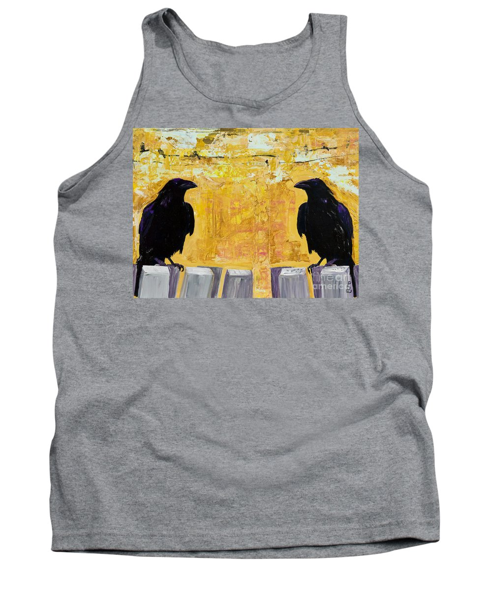 Abstract Realism Tank Top featuring the painting The Gossips by Pat Saunders-White