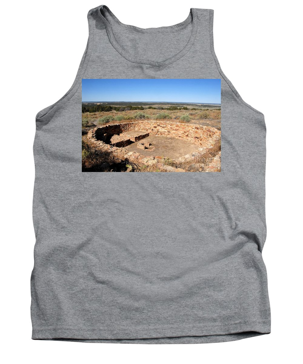 Great Kiva Tank Top featuring the photograph The Great Kiva by David Lee Thompson