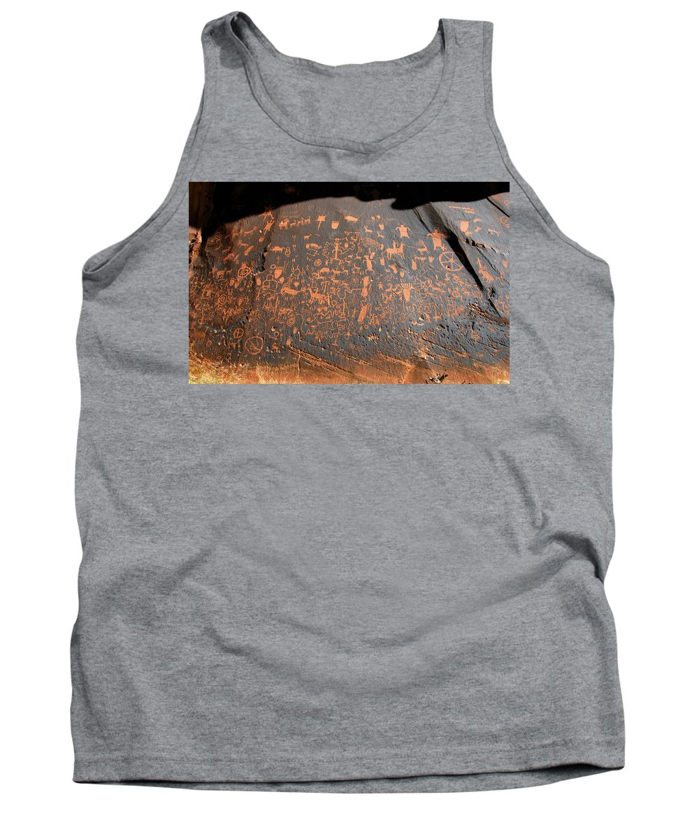 Newspaper Rock Tank Top featuring the photograph The Great Panel At Newspaper by David Lee Thompson