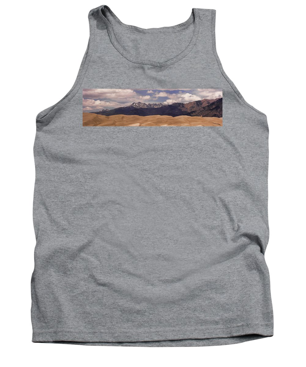 Tank Top featuring the photograph The Great Sand Dunes Panorama 1 by James BO Insogna