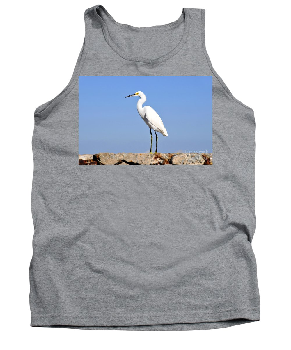 Great Snowy Egret Tank Top featuring the photograph The Great Snowy Egret by David Lee Thompson
