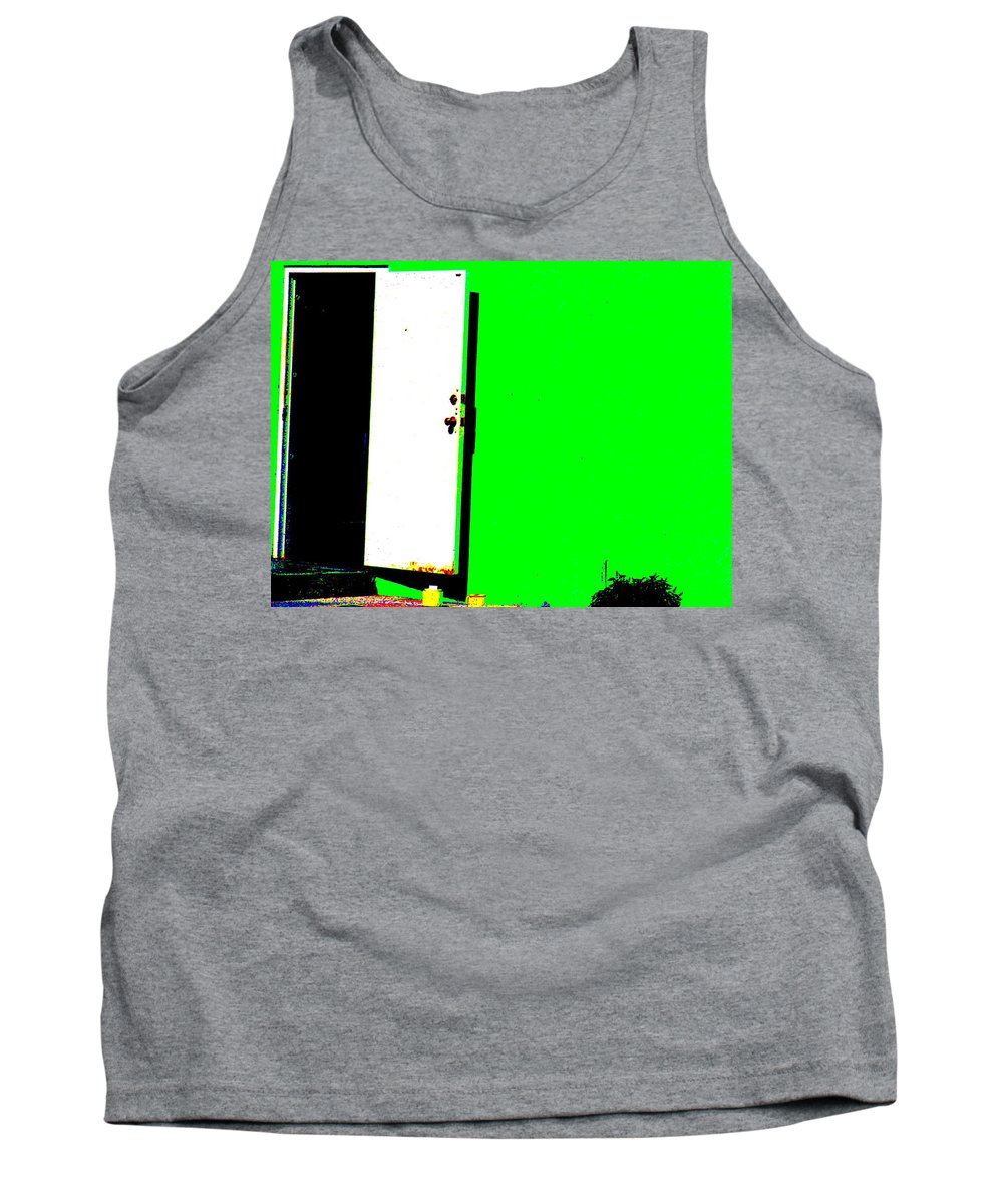 Still Life Tank Top featuring the photograph The Green Door by Ed Smith