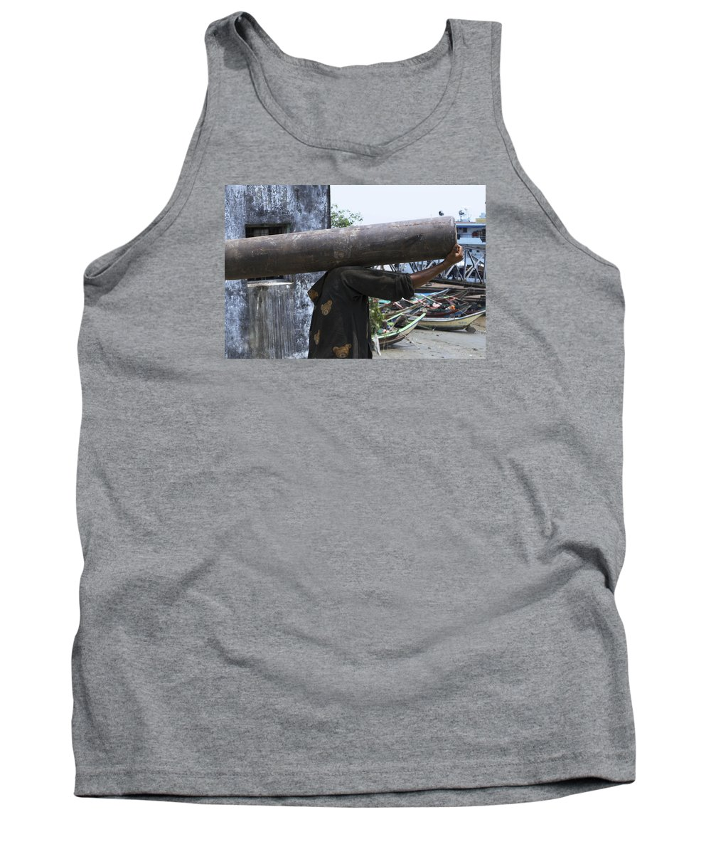Headless Tank Top featuring the photograph The Headless Man by Eline Van Nes