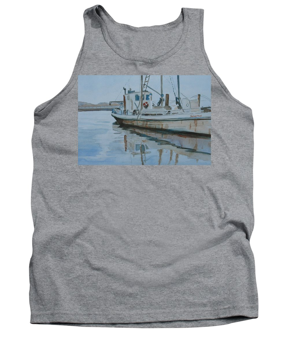 Boat Tank Top featuring the painting The Helen Mccoll At Rest by Jenny Armitage