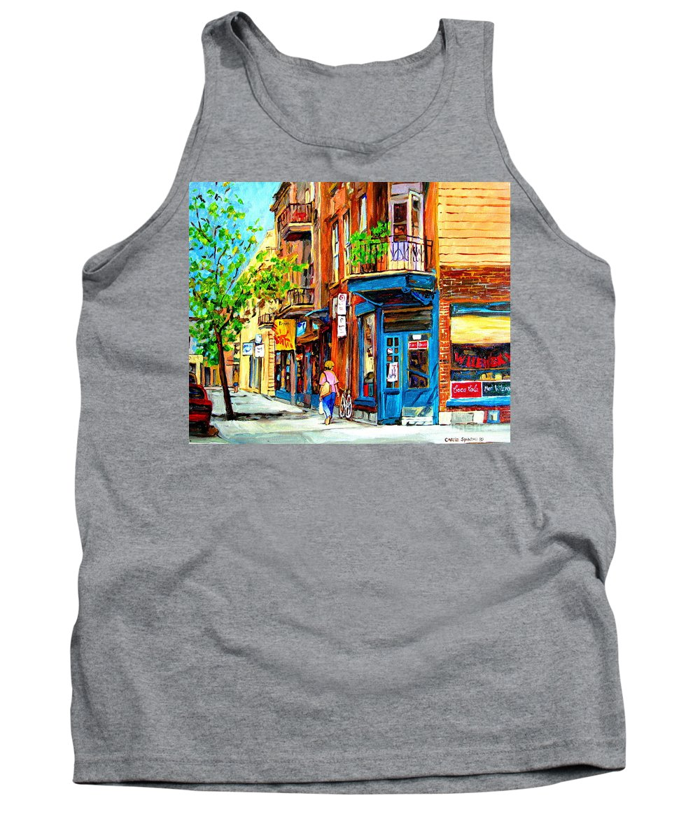 Wilenskys Tank Top featuring the painting The Lady In Pink by Carole Spandau
