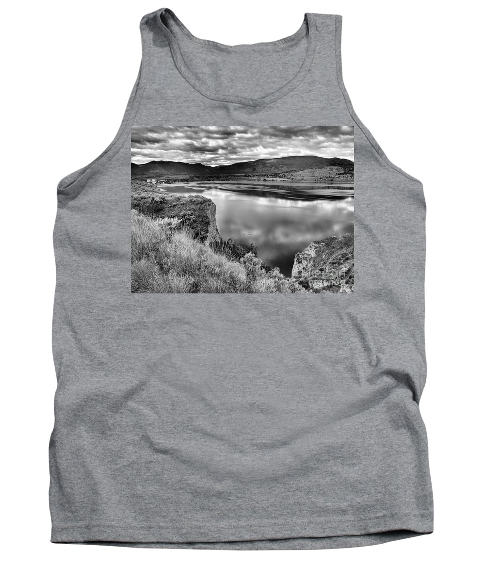 Lake Tank Top featuring the photograph The Lake In Black And White by Tara Turner