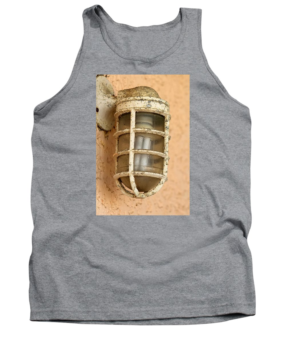 Lamp Tank Top featuring the photograph The Lamp by Alex Coco Pro Cabello leiva
