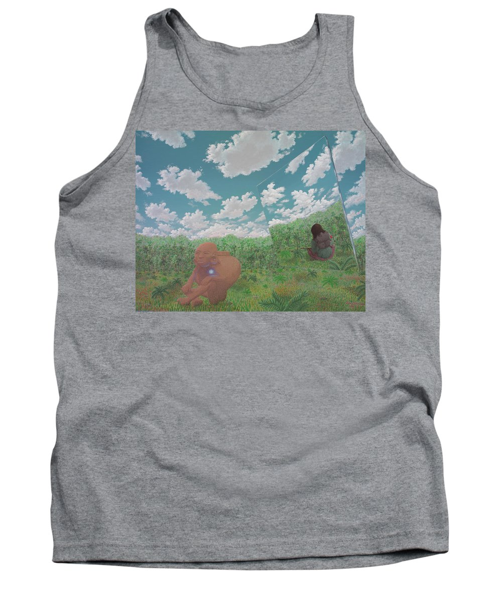 Surreal Landscape Tank Top featuring the painting The Last Itza by Jon Carroll Otterson