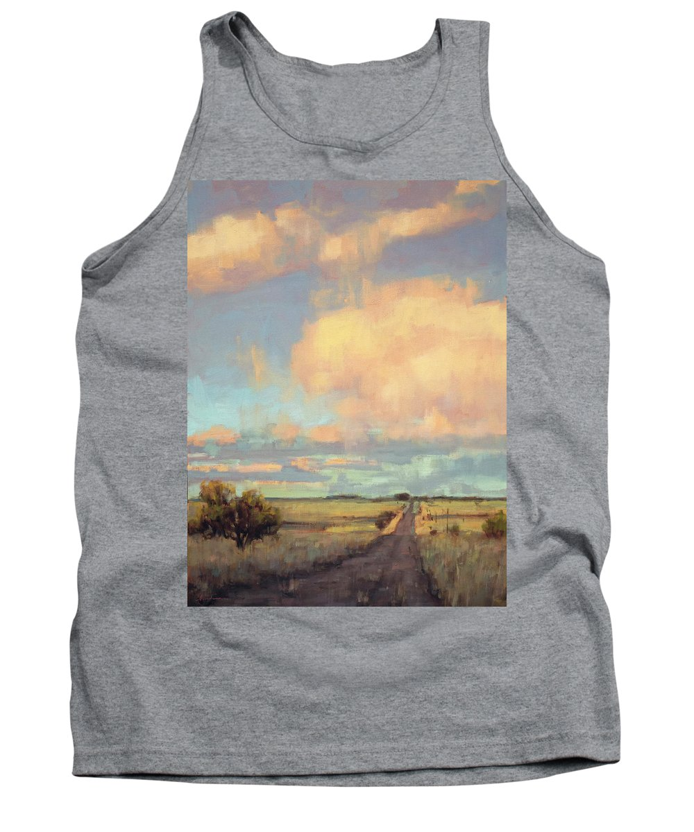 Landscape Tank Top featuring the painting The Last Mile by Charles Thomas Fine Art