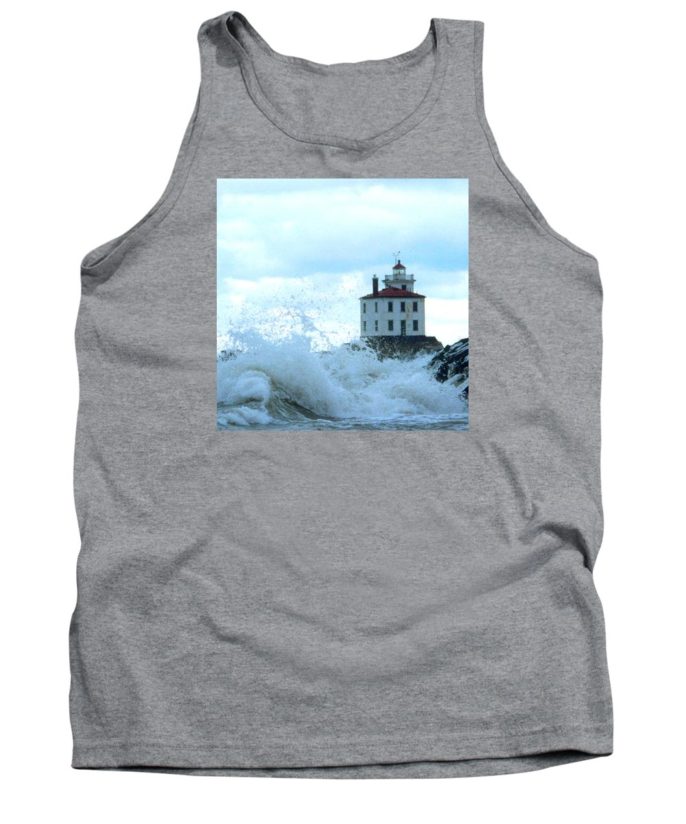 Lighthouse Tank Top featuring the photograph The Light At Fairport Harbor by Rusty Ruckel