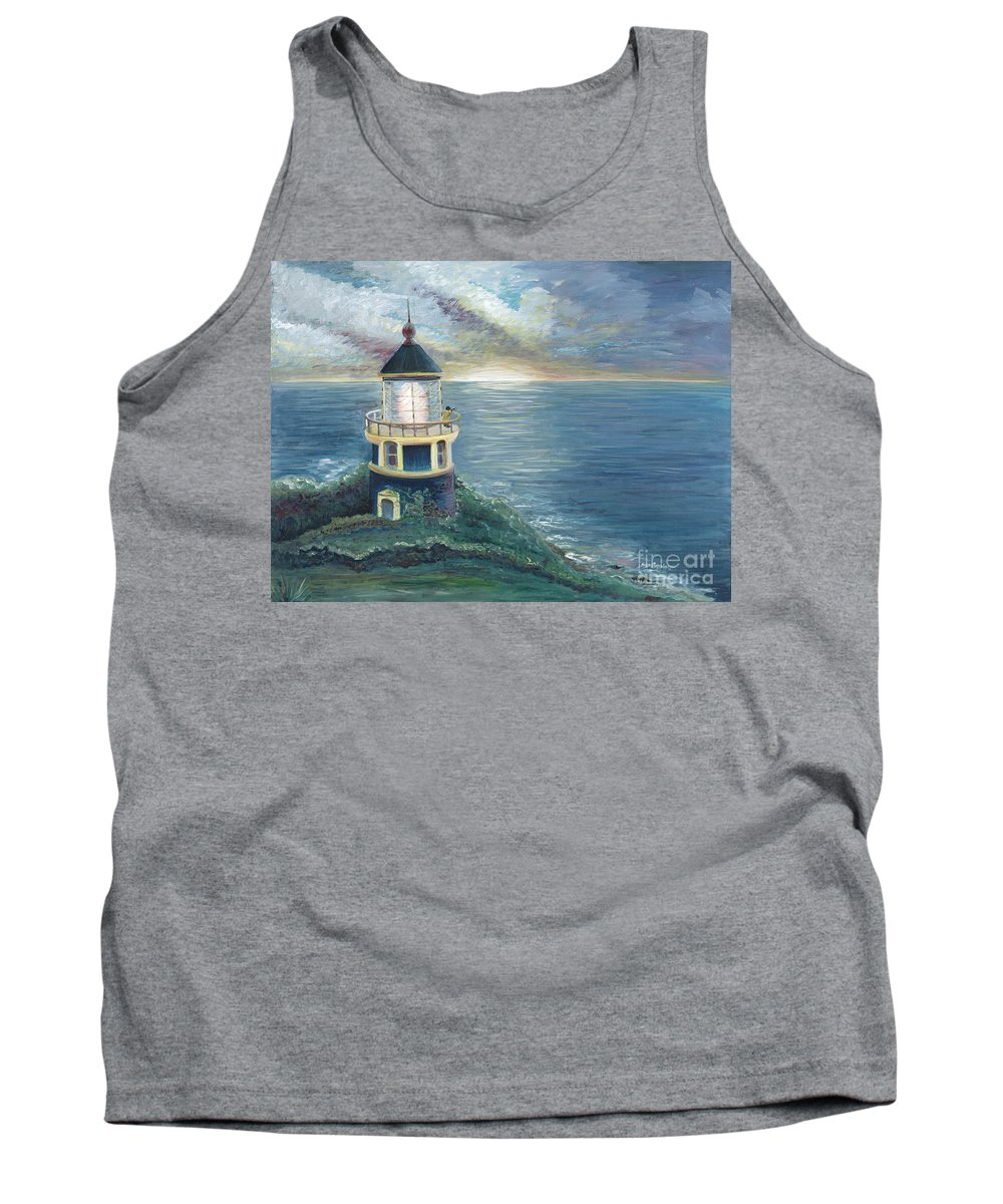 Lighthouse Tank Top featuring the painting The Lighthouse by Nadine Rippelmeyer