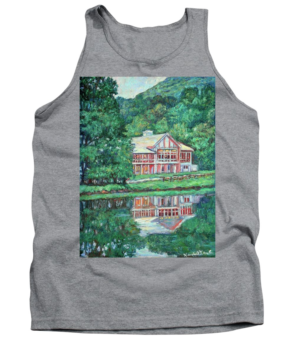 Lodge Paintings Tank Top featuring the painting The Lodge At Peaks Of Otter by Kendall Kessler