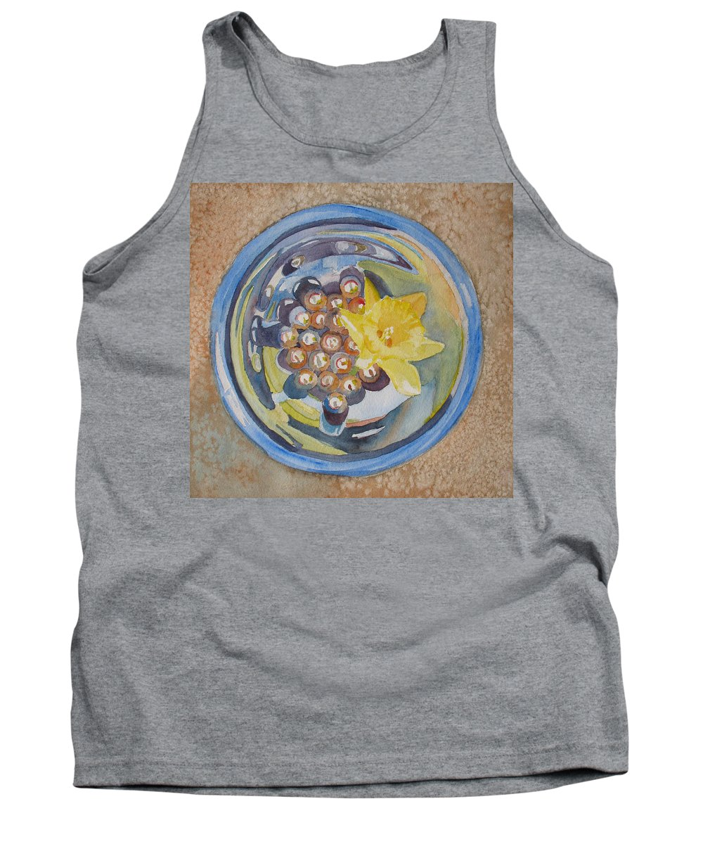 Daffodil Tank Top featuring the painting The Magic Bowl II by Jenny Armitage