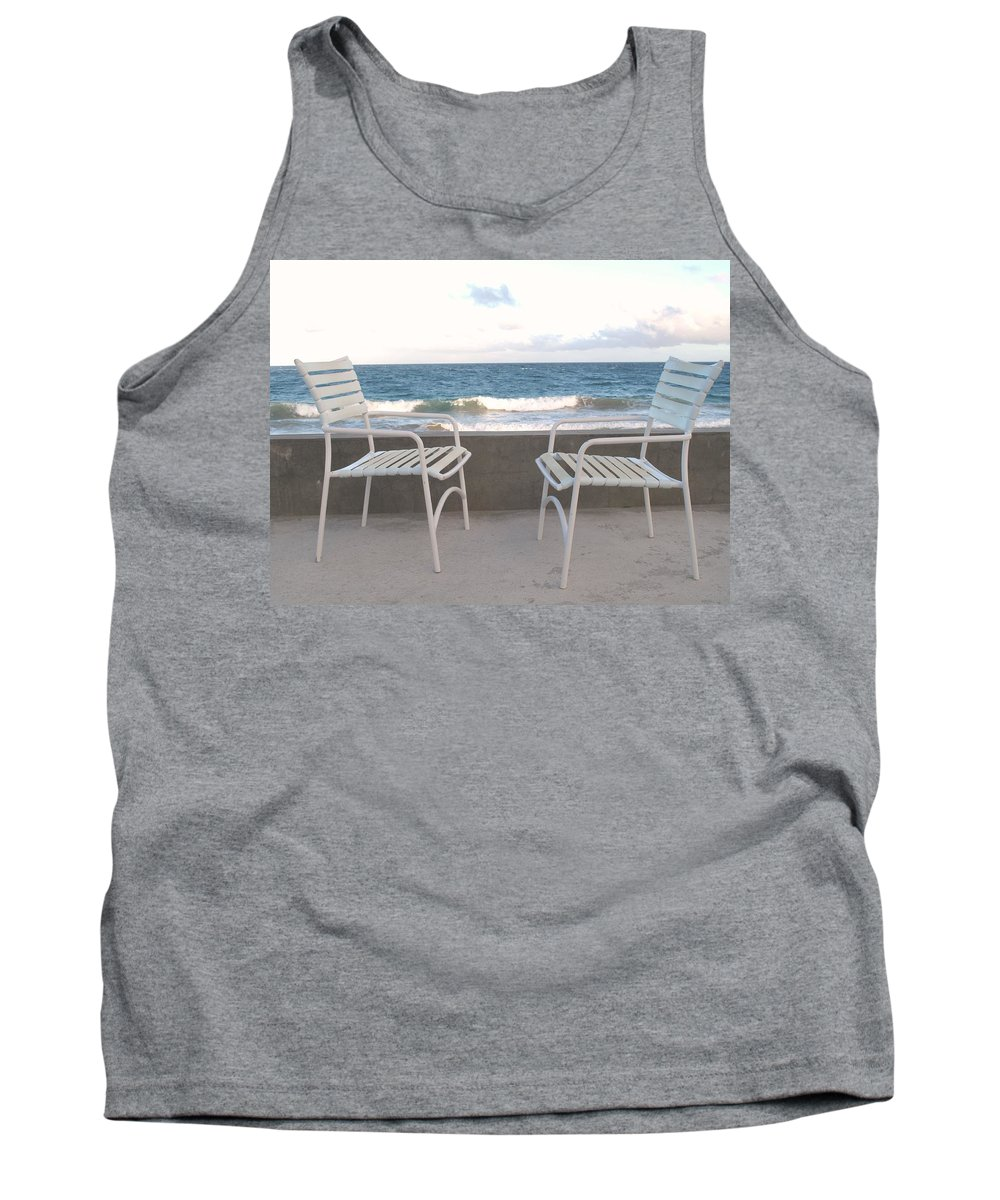 Seascape Tank Top featuring the photograph The Meeting by Ian MacDonald