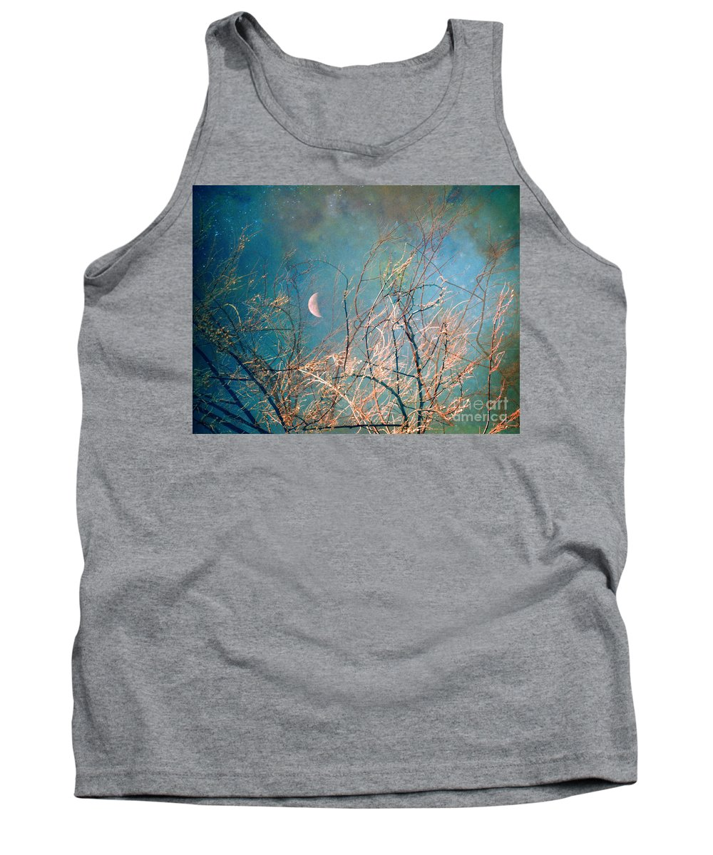 Moon Tank Top featuring the photograph The Messy House Of The Moon by Tara Turner