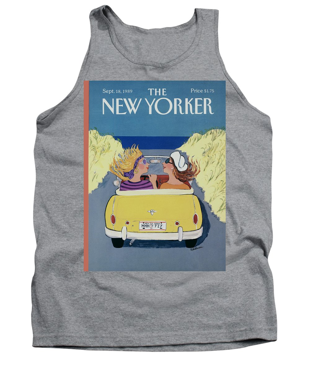 Autos Tank Top featuring the photograph The New Yorker Cover - September 18th, 1989 by Barbara Westman