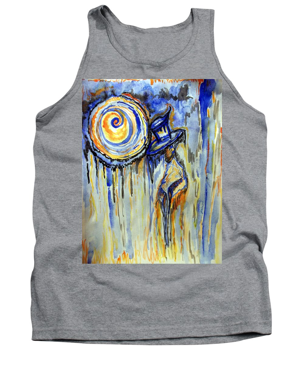 Moon Tank Top featuring the painting The Notekeeper by Catherine McCoy