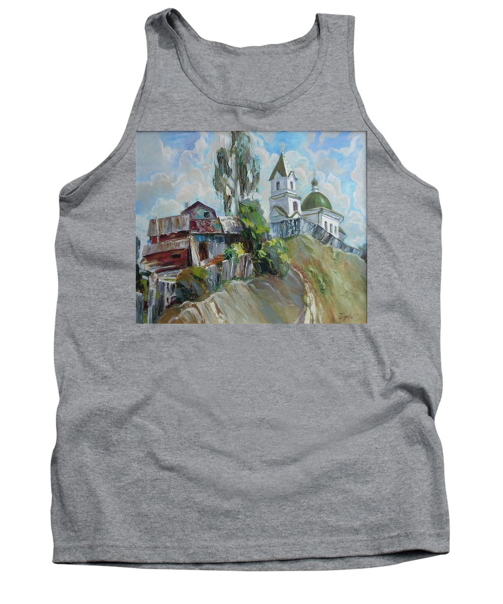 Oil Tank Top featuring the painting The Old And New by Sergey Ignatenko