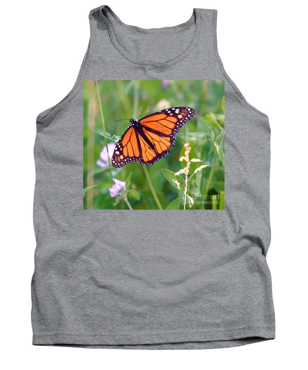 Butterfly Tank Top featuring the photograph The Orange Butterfly by Robert Pearson