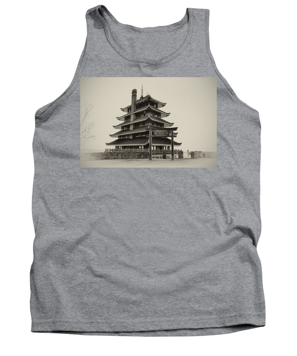 Pagoda Tank Top featuring the photograph The Pagoda - Reading Pa. by Bill Cannon