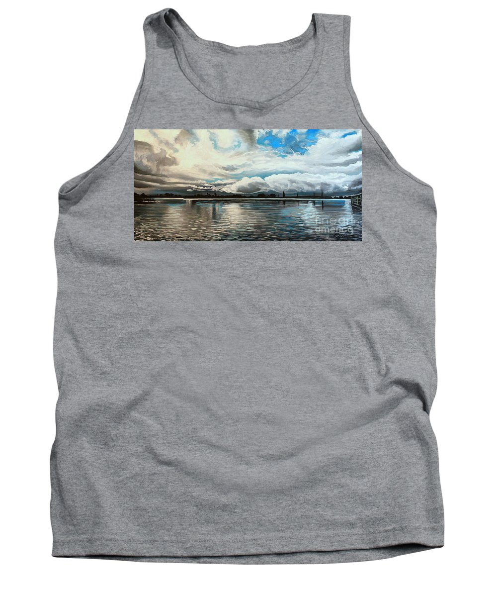Landscape Tank Top featuring the painting The Panoramic Painting by Elizabeth Robinette Tyndall