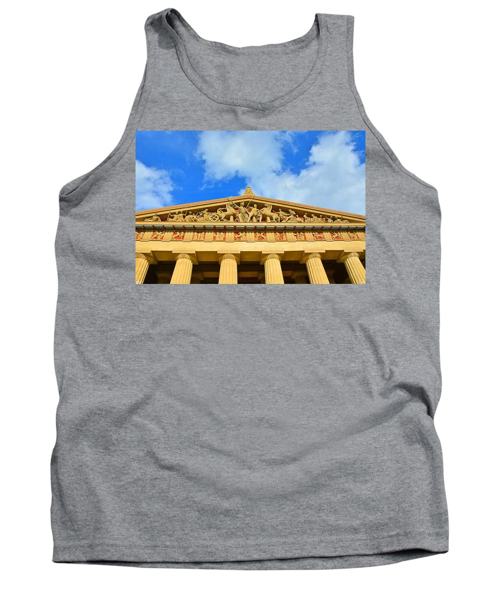 The Parthenon In Nashville Tennessee 2 Tank Top featuring the photograph The Parthenon In Nashville Tennessee 2 by Lisa Wooten