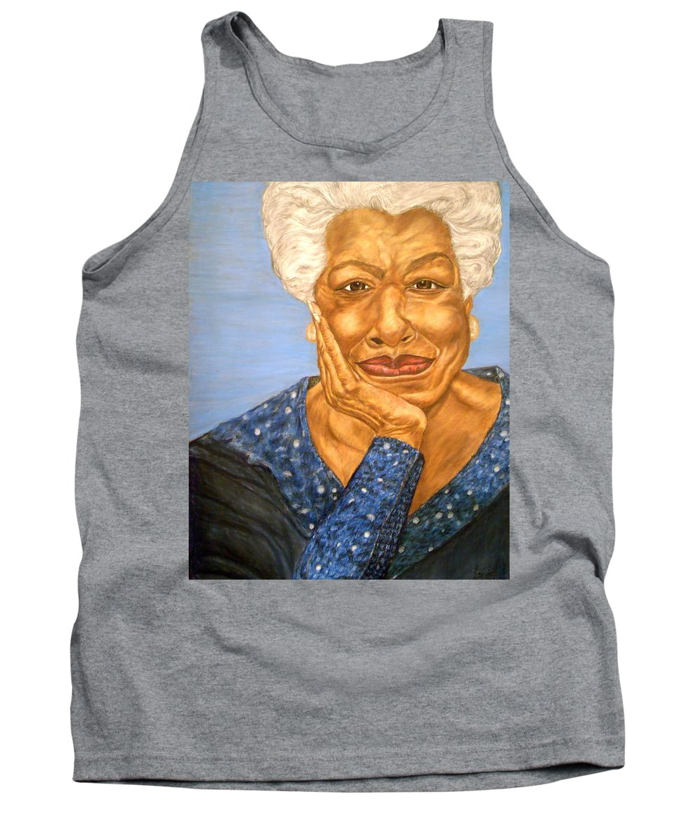 Portrait Tank Top featuring the painting The Poet by Arron Kirkwood
