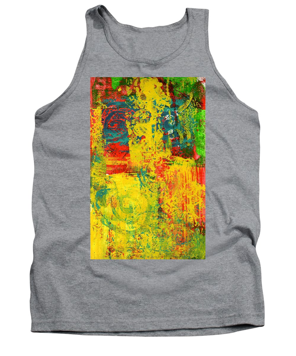 Abstract Tank Top featuring the painting The Power Within by Wayne Potrafka