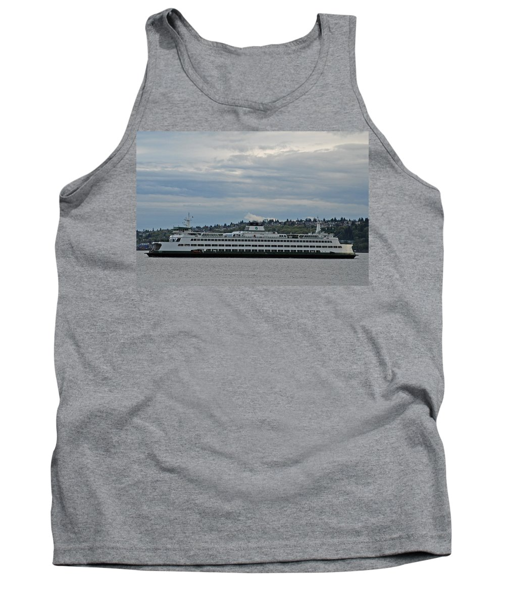 Tank Top featuring the photograph The Puyallup Ferry In Seattle by Carol Eliassen