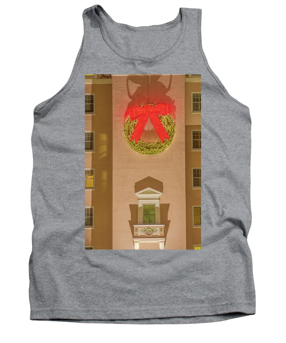 The Broadmoor Hotel Tank Top featuring the photograph The Scintillating Wreath  by Bijan Pirnia