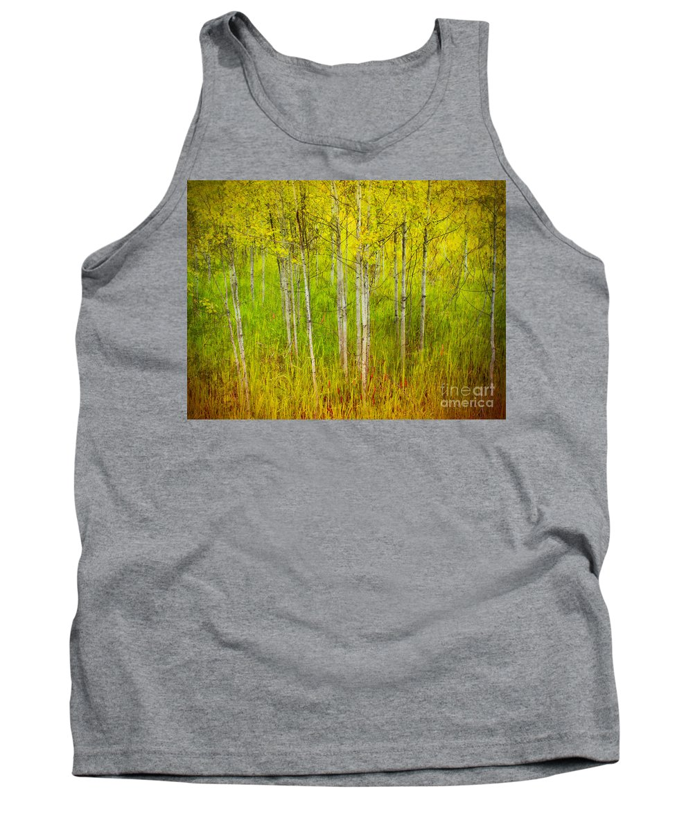 Forest Tank Top featuring the photograph The Small Forest by Tara Turner