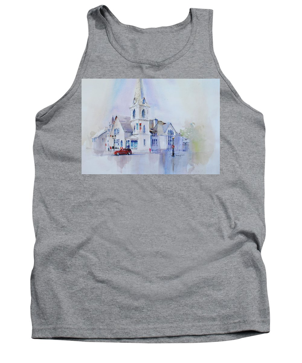 Visco Tank Top featuring the painting The Spire Center by P Anthony Visco